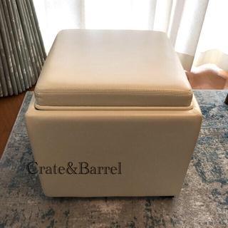 Crate&Barrel レザーストレージオットマン(オットマン)