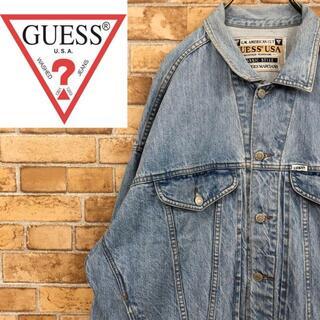 ゲス(GUESS)の♡ゲス♡GUESS USA製 デニムジャケット Gジャン アメカジ アイスブルー(Gジャン/デニムジャケット)