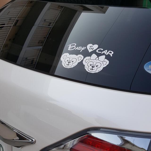 ダッフィー シェリーメイ キッズインカー ベイビー ステッカー シール グッズ ハンドメイドのキッズ/ベビー(外出用品)の商品写真