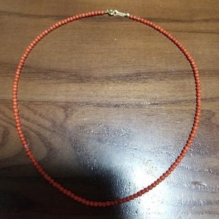 赤珊瑚 ネックレス k18(ネックレス)