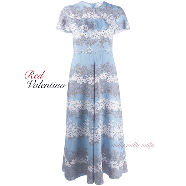 RED VALENTINO(レッドヴァレンティノ)のご成約済み♡新品タグ付【RED VALENTINO】2019-20ピオニードレス レディースのワンピース(ロングワンピース/マキシワンピース)の商品写真
