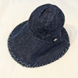 シャネル(CHANEL)の新品同様 CHANEL ココマーク プレート デニム ハット 帽子 シャネル(ハット)
