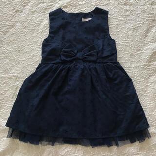 ニシマツヤ(西松屋)のネイビー チュール付きワンピース ドレス 95cm(ドレス/フォーマル)