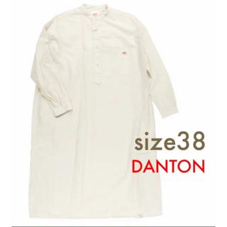 ダントン(DANTON)の新品 ダントン タイプライター シャツ ワンピース 38 アイボリー(ロングワンピース/マキシワンピース)