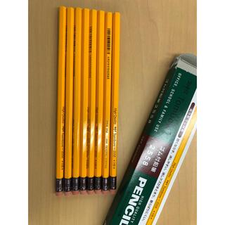 トンボエンピツ(トンボ鉛筆)のゴム付鉛筆 2558 HB 未使用 8本セット Tombow トンボ(鉛筆)