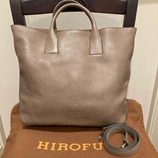 【美品】HIROFU ヒロフ バッグ グレージュ(トートバッグ)