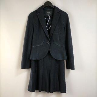 ルスーク(Le souk)のルスーク トップス36/スカート34 セットアップ ブラック ジャケット 無地 (スーツ)