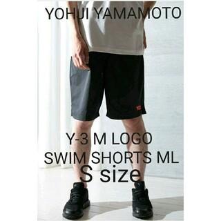 ヨウジヤマモト(Yohji Yamamoto)の新品 タグ付 Y-3 M LOGO SWIM SHORTS ML(BLACK)(水着)
