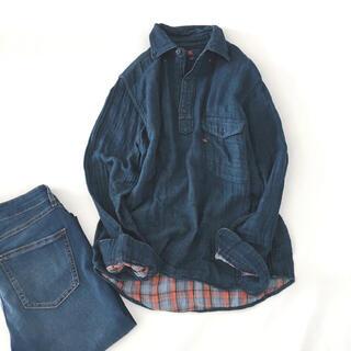 フォーティファイブアール(45R)の45R インディゴ染やわらか素材長袖シャツ(シャツ/ブラウス(長袖/七分))