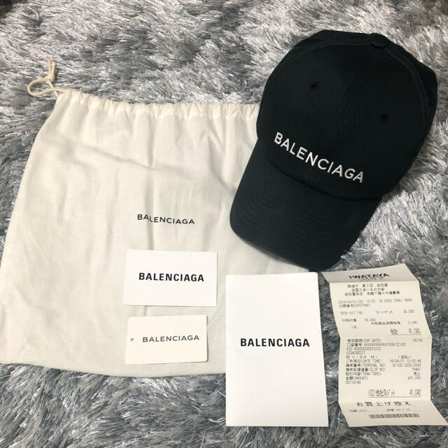 Balenciaga(バレンシアガ)のバレンシアガ 黒 キャップ 帽子 レディース メンズ 正規品 領収書 レディースの帽子(キャップ)の商品写真