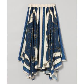 ジーナシス(JEANASIS)のJEANASIS アソートスカーフアシメスカート(ロングスカート)