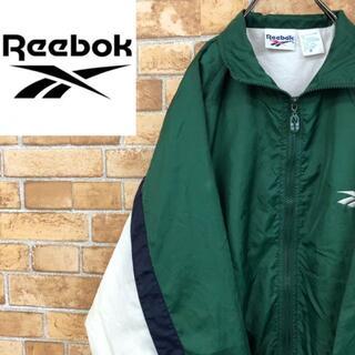 リーボック(Reebok)の♡リーボック♡ナイロンジャケット 胸ロゴ 深緑 Reebok ゆるだぼ(ナイロンジャケット)