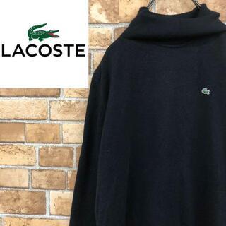 ラコステ(LACOSTE)の♡ラコステ♡タートルネックニット ウール ハイネック 黒 長袖トップス(ニット/セーター)