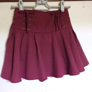 lovetoxic - ラブトキ ミニスカート キュロット 140 赤 レッド パンツインスカート