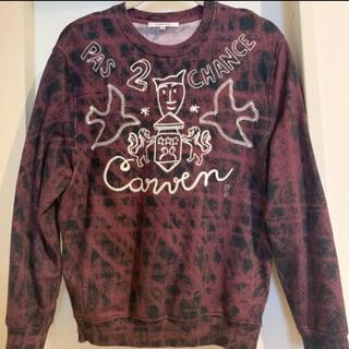 カルヴェン(CARVEN)のCARVEN スウェット トレーナー 刺繍トップス(トレーナー/スウェット)