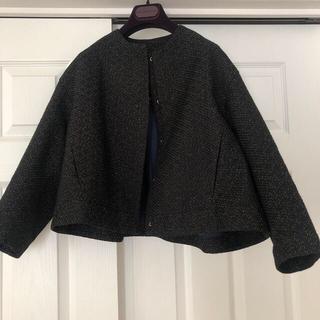 Drawer - ドゥロワー  ラメブラックジャケット美品drawerブラミンク