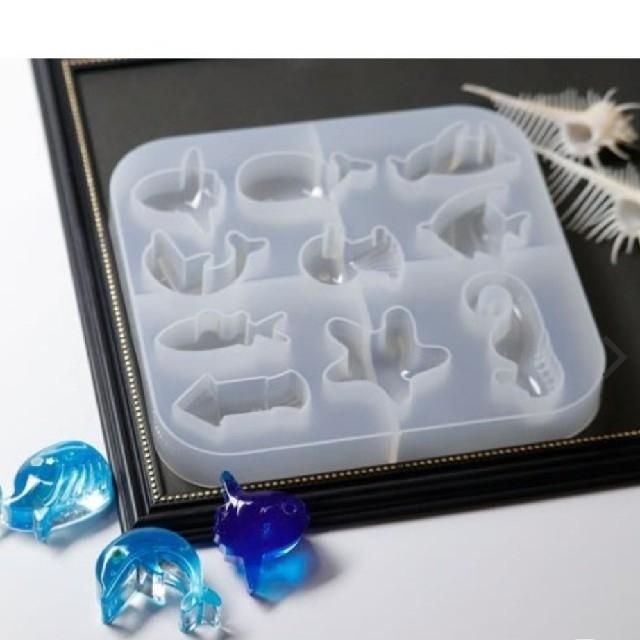 シリコンモールド~海の生き物 ハンドメイドの素材/材料(各種パーツ)の商品写真