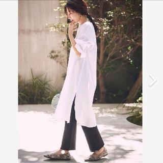 ミラオーウェン(Mila Owen)の新品タグ付シワシャツワンピ×ニットスキニーパンツセット 白 Mila Owen(セット/コーデ)
