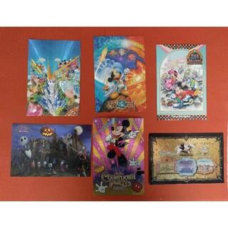 年代物 ディズニー キラキラのポストカード 絵葉書 6点セット