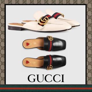 グッチ(Gucci)のレザースリッポン(スリッポン/モカシン)