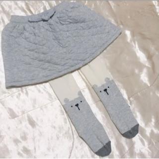 NEXT - next キルティングスカート・くまタイツ 80cm セット