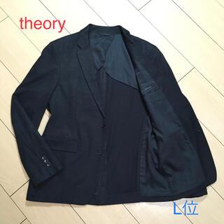 セオリー(theory)の美品★セオリー×上質リネン&コットンブラック春夏ジャケット 背抜き 黒 A810(テーラードジャケット)