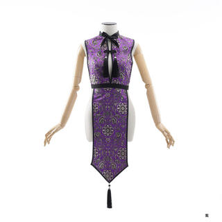 【used】M企画 キョンシー チャイナトップス&カチューシャset 紫(衣装一式)