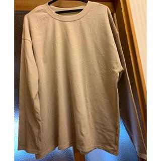 グレイル(GRL)の【GRL】ロングTシャツ ベージュ(Tシャツ(長袖/七分))