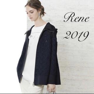 ルネ(René)の新品未使用 Rene2019春フラワーレースフーディブルゾンフォクシー(ブルゾン)