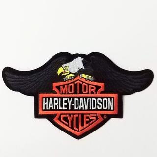 ハーレーダビッドソン(Harley Davidson)のハーレーダビッドソン 純正品 アイロンワッペン 刺繍 イーグル  ブラック(装備/装具)