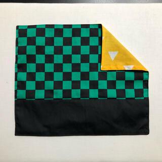 入園準備 ランチョンマット 市松模様×鱗柄 25×30(その他)