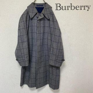 バーバリー(BURBERRY)のBURBERRY バーバリー ロングコート Sサイズ ウールコート チェック柄(チェスターコート)