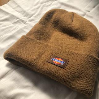 ディッキーズ(Dickies)のDickies ビーニー ニット帽 ブラウン(ニット帽/ビーニー)