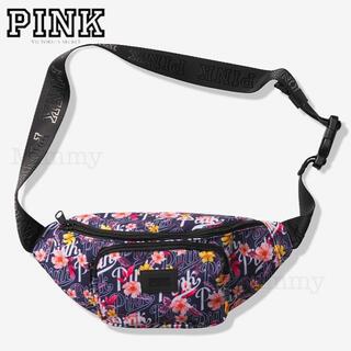 Victoria's Secret - PINK♡ウエストポーチ♡ネイビー オールオーバー フローラルロゴ