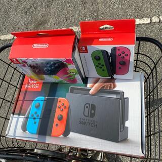ニンテンドースイッチ(Nintendo Switch)のswitch本体ブルーレッド 旧デザイン ジョイコンとプロコンセットです。(家庭用ゲーム機本体)