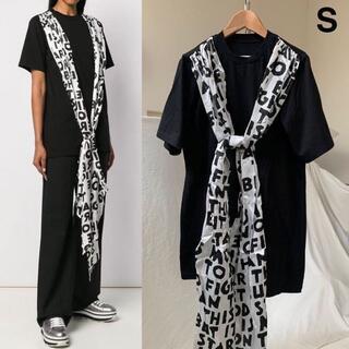 マルタンマルジェラ(Maison Martin Margiela)の新品 タグ付 メゾン マルジェラ MM6 AIDS スカーフ Tシャツ M 黒(カットソー(半袖/袖なし))