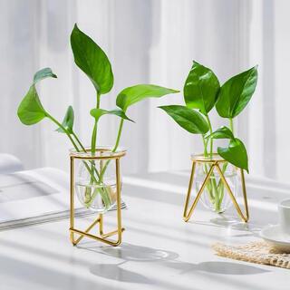 フランフラン(Francfranc)の2個セット★ワイヤーフラワーベース 花瓶 アイアン シンプル(花瓶)