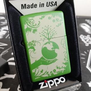 ジッポー(ZIPPO)のzippoジッポ未使用新品グリーンマット(タバコグッズ)