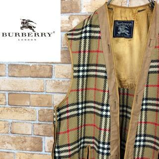 バーバリー(BURBERRY)の♡バーバリーズ♡イングランド製 ライナーロングベスト ノバチェック(ベスト)