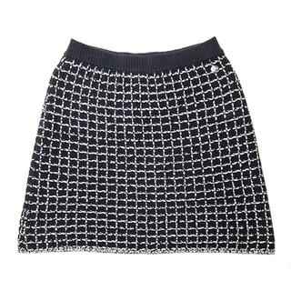 シャネル(CHANEL)のシャネル  スカート  ツイード ミニ丈 ニットスカート P56153(ミニスカート)