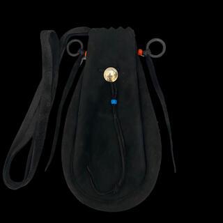 ゴローズ(goro's)の《新品》ゴローズ(goro's)巾着ポーチL(黒)r077(ショルダーバッグ)
