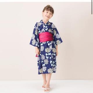 プティマイン(petit main)の新品♡petit main♡130㎝♡あじさい柄浴衣(甚平/浴衣)