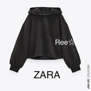 ZARA - ZARA ショート丈フーディー ザラ パーカー スウェット
