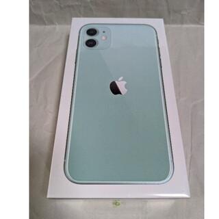 アイフォーン(iPhone)のdocomo iPhone11 64GB グリーン simフリー 新品未開封品(スマートフォン本体)