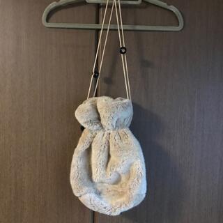 シアタープロダクツ(THEATRE PRODUCTS)のシアタープロダクツ ツートーンフェイクファー巾着バッグ(ハンドバッグ)