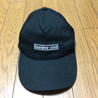 ナンバーナイン(NUMBER (N)INE)の中古ナンバーナイン黒キャップ帽子フリーサイズ(キャップ)