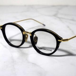 THOM BROWNE - 46 49 ブラック THOM BROWNE トムブラウン 眼鏡 011