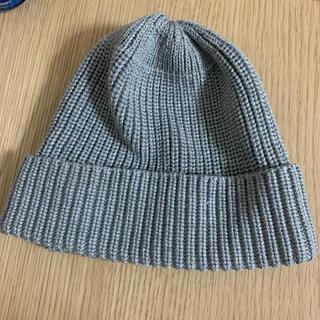 ジーユー(GU)の【美品❣】GU ジーユー グレーニット帽(ニット帽/ビーニー)