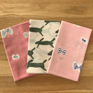 ミナペルホネン(mina perhonen)のミナペルホネン 手ぬぐい3枚(ピンク)(生地/糸)