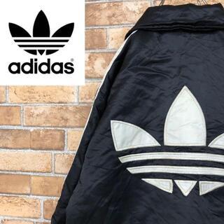 adidas - ♡アディダス♡中綿ジャケット トレフォイル ビッグロゴ 3ライン 黒